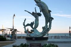 Beachside statue