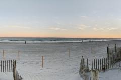 Last beach sunset