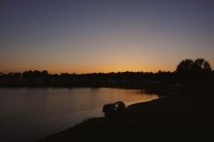Darker sunset on a lake